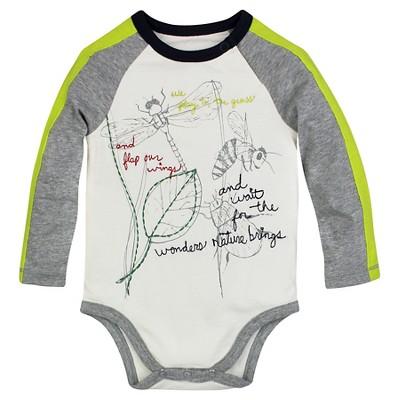 Burt's Bees Baby™ Boys' Long Sleeve Bodysuit - Off White 12M