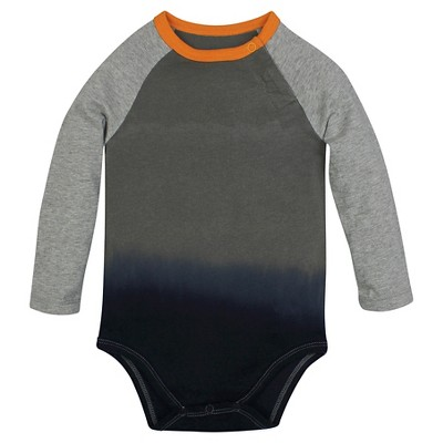 Burt's Bees Baby™ Boys' Baseball Dip Dye Bodysuit - Dark Grey 3-6M