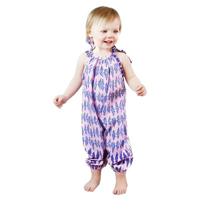 IndegoAfrica Toddler Girls' Bubble Romper 3-6M - Pink