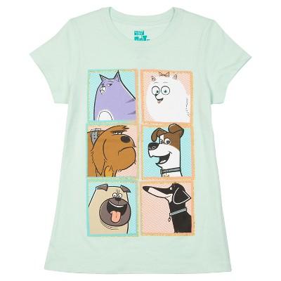 Girls' The Secret Life of Pets Short Sleeve Tee - Green XS
