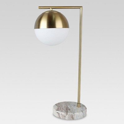 Marble and Gold Lamp (Includes CFL Bulb) - Threshold™
