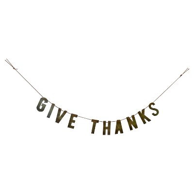 """Metal Letter Garland """"Give Thanks"""" - Threshold™"""