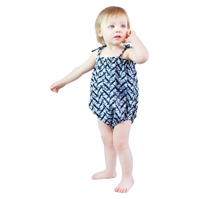 IndegoAfrica Newborn Girls' Sun Suit 3-6M - Blue