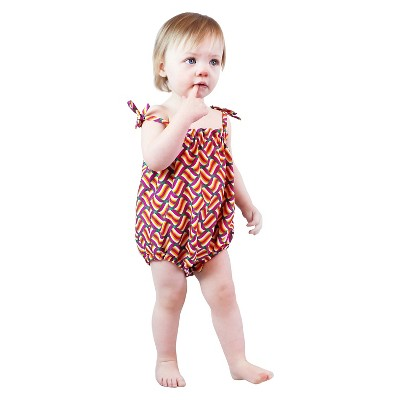 IndegoAfrica Newborn Girls' Sun Suit 0-3M - Pink Swirl