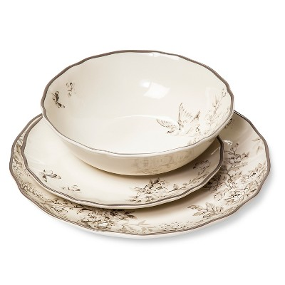 Spring Rush Dinnerware Set 12-pc. Cream - Beekman 1802 FarmHouse™