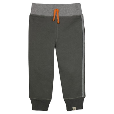 Burt's Bees Baby™ Boys' French Terry Pant - Dark Grey 0-3M