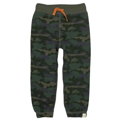 Burt's Bees Baby™ Boys' French Terry Pant - Camo 0-3M