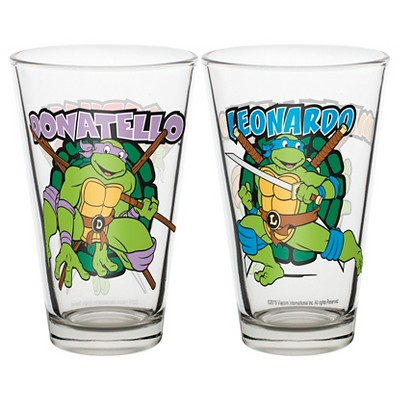 Zak! Teenage Mutant Ninja Turtles 10oz Glass Tumbler - 2pk
