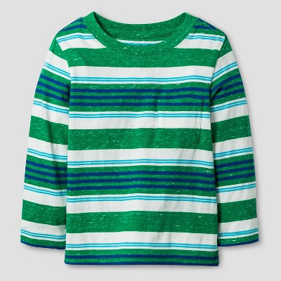 Baby Boys' Long Sleeve T-Shirt Baby Cat & Jack™ - Green Stripe 12 M