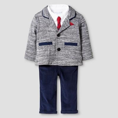 Baby Boyz™ Top & Bottom Suit Set - Heather Grey 0-3M