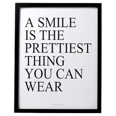 A Smile is… Black Framed Wall Art - 3R Studios
