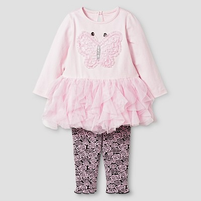 Baby Grand Signature™ Baby Girls' Butterfly Tunic & Legging Set - Pink 6-9M