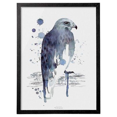 Eagle Blue Watercolor Framed Wall Art - 3R Studios