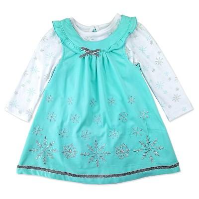 Baby Grand Signature™ Baby Girls' Snowflake Coordinate Set - Turquoise