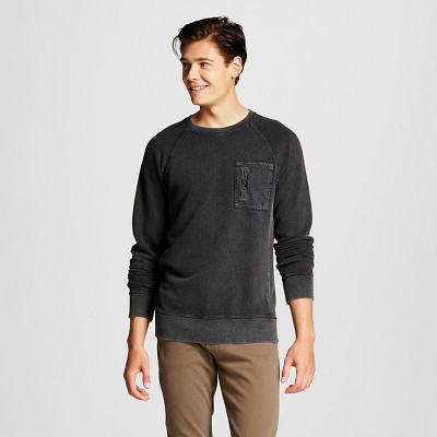Men's Washed Crew Pullover Ebony XXL - Mossimo Supply Co.™