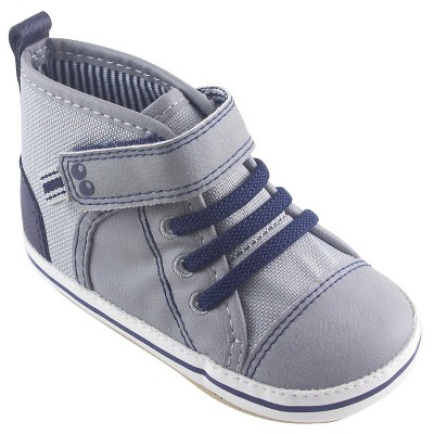 Baby Boys' Soft Sole Hi-Top Sneaker Grey 6-12 M - Surprize by Stride Rite™
