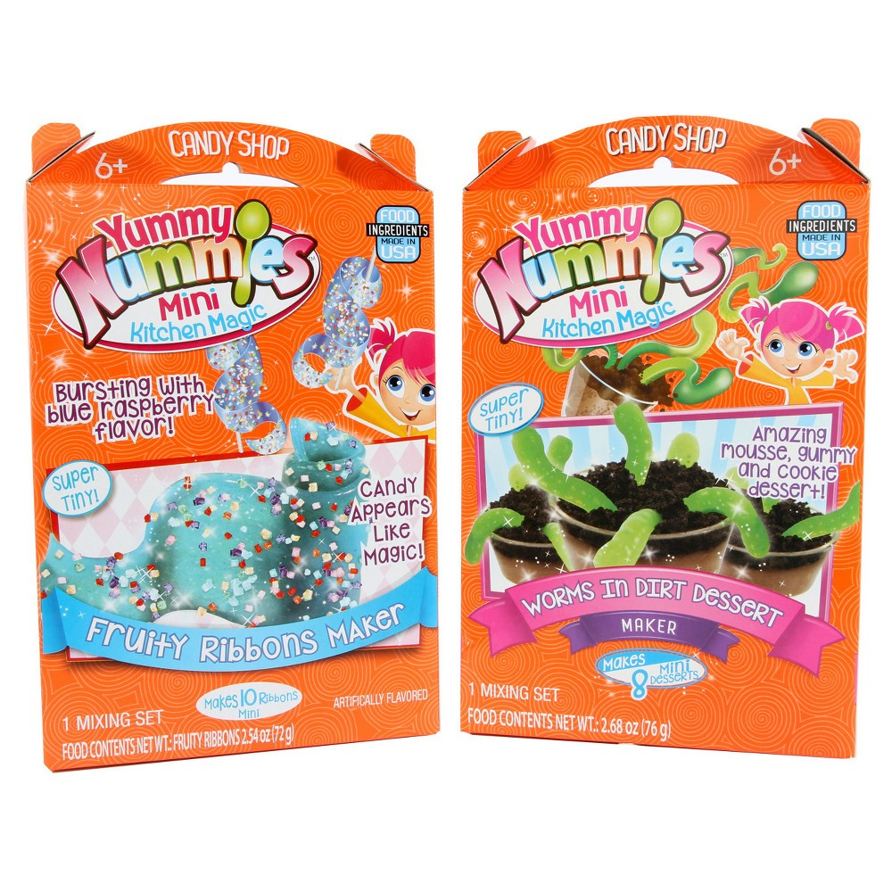Yummy Nummies 2 Pk Worms In Dirt/Fruity Ribbon, Multi-Colored