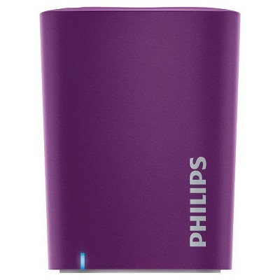 Philips BT100V/27 Anticlipping Bluetooth Portable Speaker - Violet