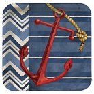 """Blue Anchor 9"""" Square Paper Plates - 8 Count"""