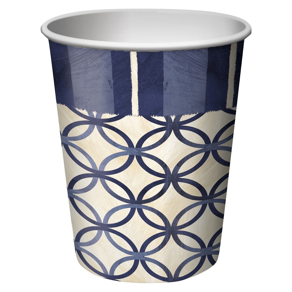 Blue Nautical 9 oz. Paper Cups - 8 Count