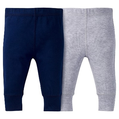 Baby Boys' 2 Pack Pull-on Pants Navy/Grey NB - Gerber®