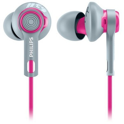 Philips SHQ2300PK/27 Actionfit Sports In-ear Headphones - Pink/Gray