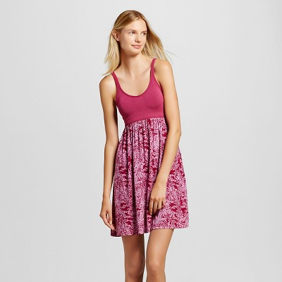Women's Pajama Gown Total Comfort with Built in Bra Support Leaf Print L - Gilligan & O'Malley™