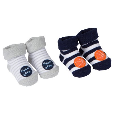 Baby Boys' 2 Pack Sports Bootie Socks 0-6M - Gerber®
