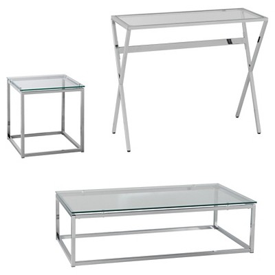 Decklyn 3 piece Table Set - Chrome - Holly & Martin