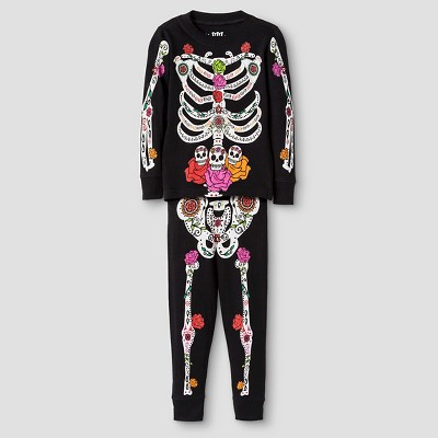 Toddler Girls' Day of the Dead Halloween Pajamas