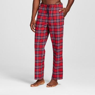 Men's Poplin Sleep Pant Red/Navy Plaid XL-Merona™