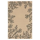 "Terrace Indoor/Outdoor Coral Border Neutral Rug 23""X7'6"" Natural - Liora Manne"