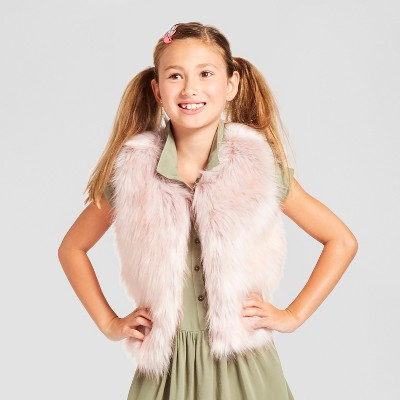 Girls' Fashion Vest Cat & Jack™ - Pink XS