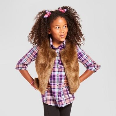 Girls' Fashion Vest Cat & Jack™ - Brown XS
