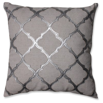 "Glimmer Throw Pillow Silver/Grey (16.5"" x 16.5"") - Pillow Perfect"