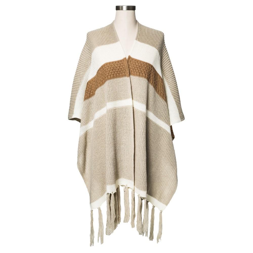Women's Knit Ruana Wrap Sandalwood - Merona, Tan