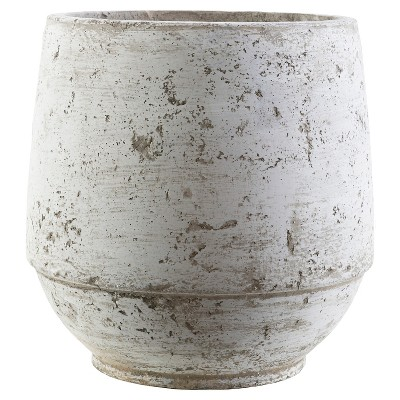 "Babs Outdoor 10.2"" Ceramic Pot - Light Gray"