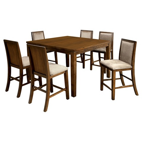 Counter Height Rustic Dining Sets : Piece Rustic Counter Height Dining Set - Walnut product details page