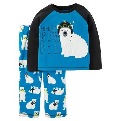 Baby Boys' 2-Piece Fleece Pajama Set Blue Polar Bear 18M - Just One You™ Made by Carter's®