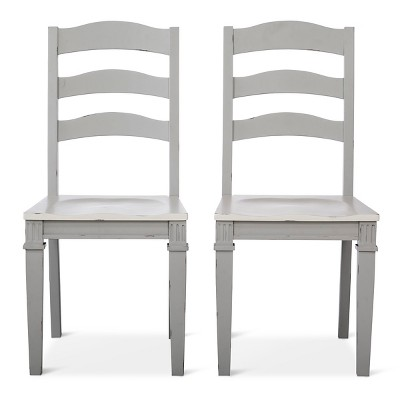Westville Distressed Wood Dining Chair - Gray (Set of 2) - Beekman 1802 FarmHouse™