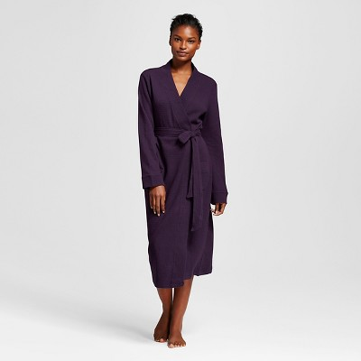 Women's Waffle Robe Purple Bergamot M/L - Gilligan & O'Malley™