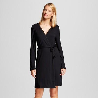 Women's Fluid Knit Robe Black XS/S - Gilligan & O'Malley™