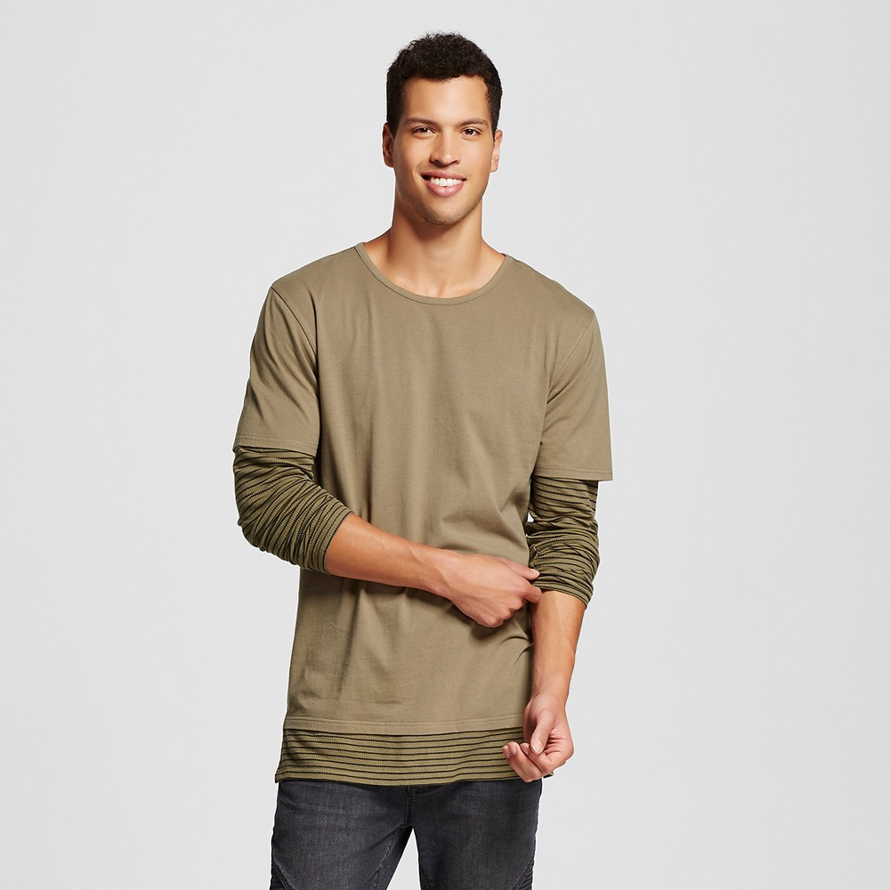 Men's Long Sleeve Tee Green L - Jackson, Size: Large