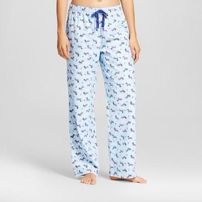 Women's Flannel Dachshund Pajama Pants - Blue L