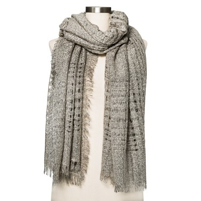 Women's Plaid Scarf   Heather Grey  - Merona™