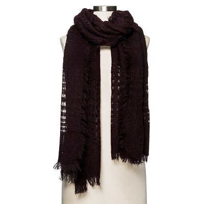Women's Plaid Scarf   Maroon  - Merona™