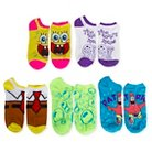 Nickelodeon Women's Low-Cut Socks Sponge Bob Square Pants 5 Pack 9-11
