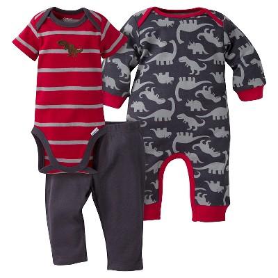 Gerber® Baby Boys' 3-Piece Coverall, Short-Sleeve Onesie® & Pant - Dinosaur 3-6M