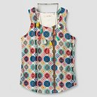 Girls' Tank Top with Necklace - Natural S