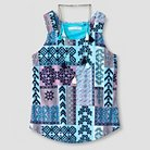 Girls'  Necklace Top with Scarf - Blue S